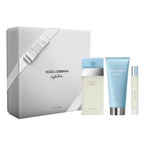 Dolce & Gabbana Light Blue - EDT 100 ml   telový krém 100 ml   EDT 7,4 ml