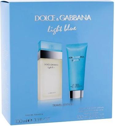 Dolce & Gabbana Light Blue EDT 100 ml + tělový krém 100 ml pre ženy darčeková sada