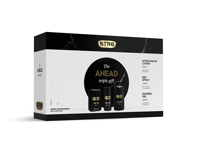 STR8 Ahead - voda po holení 50 ml + deodorant ve spreji 150 ml + sprchový gel 250 ml