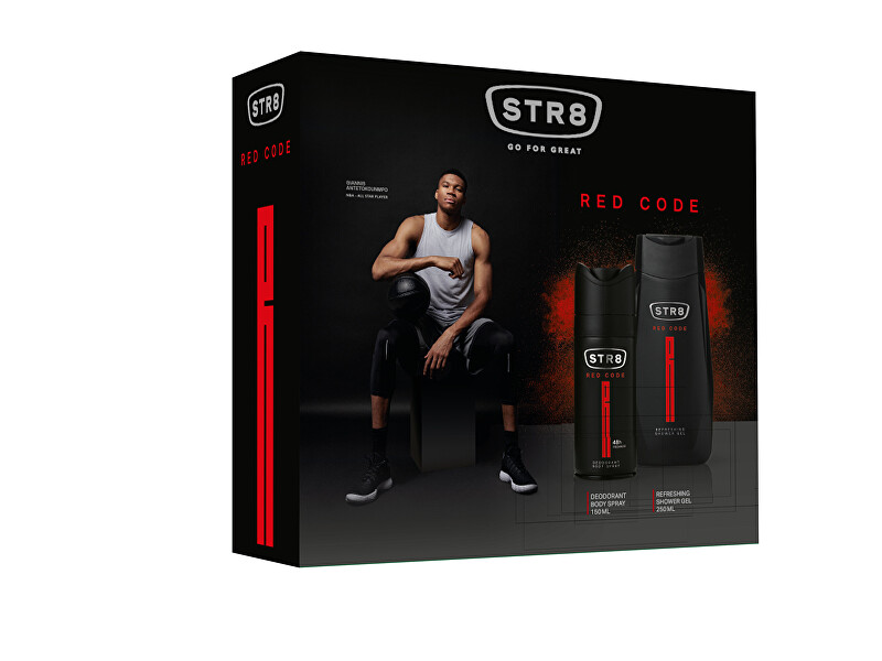 STR8 Red Code - deodorant v spreji 150 ml + sprchový gél 250 ml