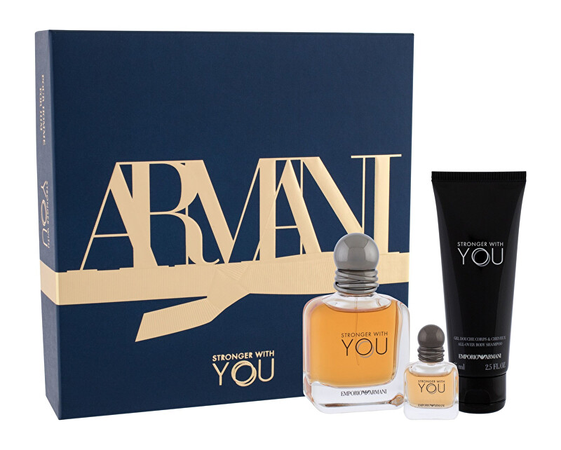 Armani Emporio Armani Stronger With You - EDT 50 ml + sprchový gel 75 ml + EDT 7 ml