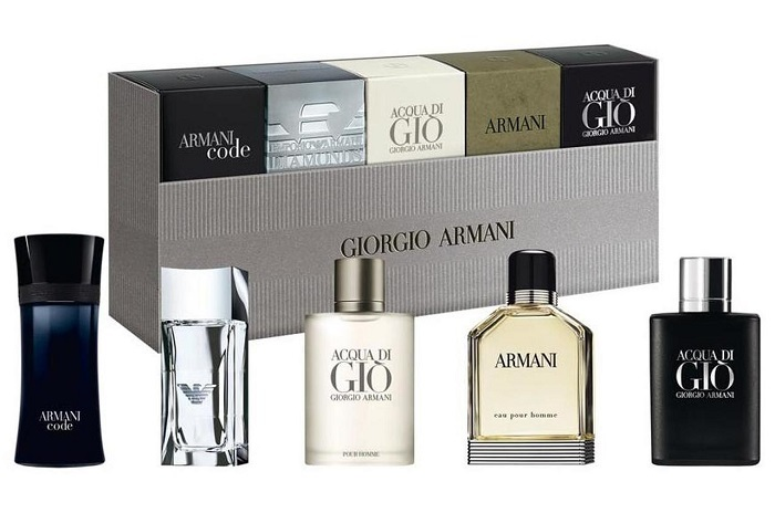 Giorgio Armani Armani Black Code 4ml EDT   Diamonds for Men 4ml EDT   Acqua di Gio 5 ml EDT   Eau pour Homme 7ml EDT   Acqua di Gio Profumo 5 ml EDP pre mužov darčeková sada