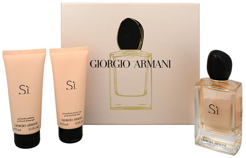 Armani Sì - EDP 100 ml + telový krém 75 ml + sprchový gél 75 ml