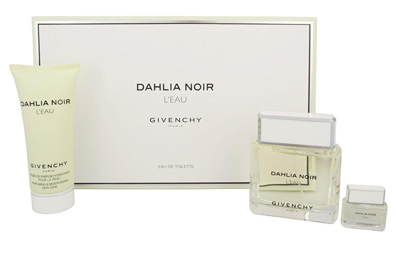 Givenchy Dahlia Noir L`Eau - EDT 90 ml + EDT 5 ml + sprchový gel 100 ml