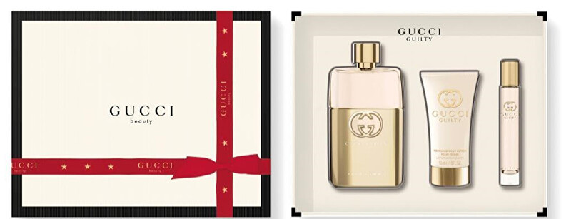 Gucci Guilty - EDP 90 ml + tělové mléko 50 ml + EDP 7,4 ml