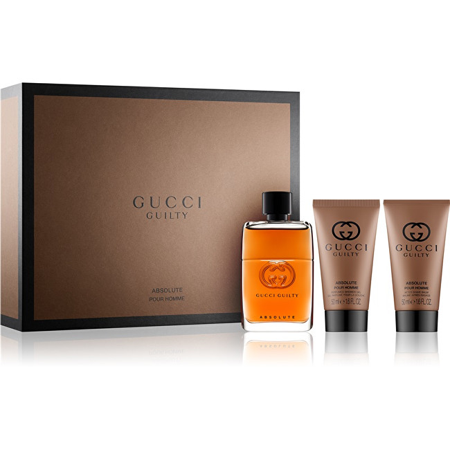 Gucci Guilty Absolute - EDP 50 ml + balzám po holení 50 ml + sprchový gel 50 ml