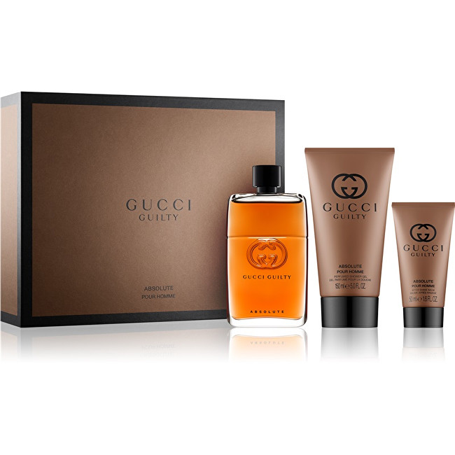 Gucci Guilty Absolute - EDP 90 ml   balzám po holení 50 ml   sprchový gel 150 ml