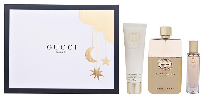 Gucci Guilty Pour Femme Eau de Parfum - EDP 90 + tělové mléko 50 ml + EDP 15 ml