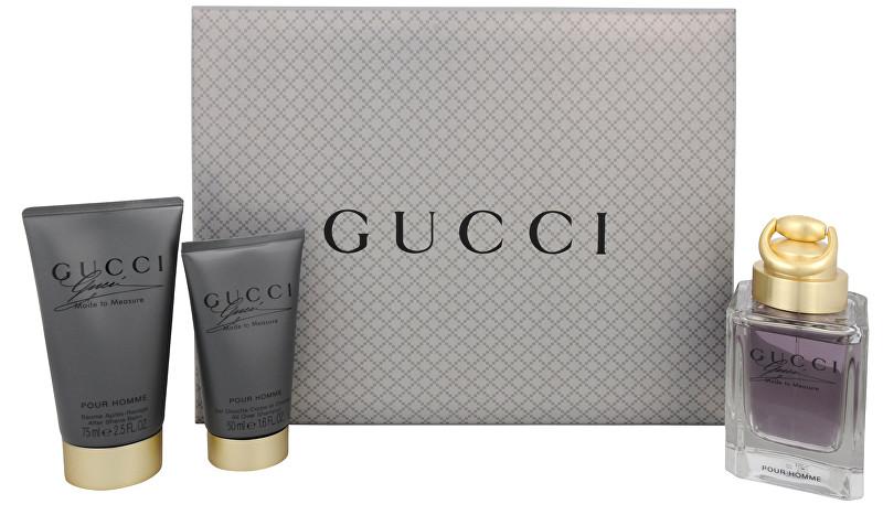 Gucci Made To Measure - toaletná voda s rozprašovačom 90 ml + balzam po holení 75 ml + sprchový gél 50 ml