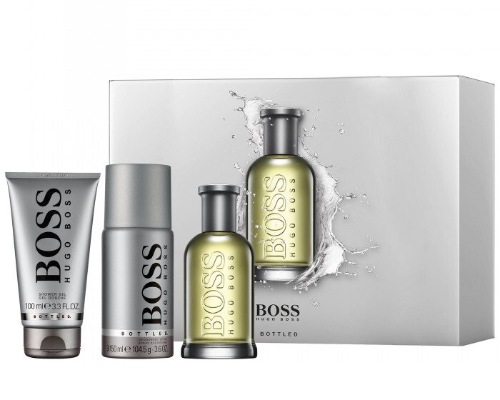 Hugo Boss Boss No. 6 Bottled - EDT 100 ml + sprchový gel 100 ml + deodorant ve spreji 150 ml