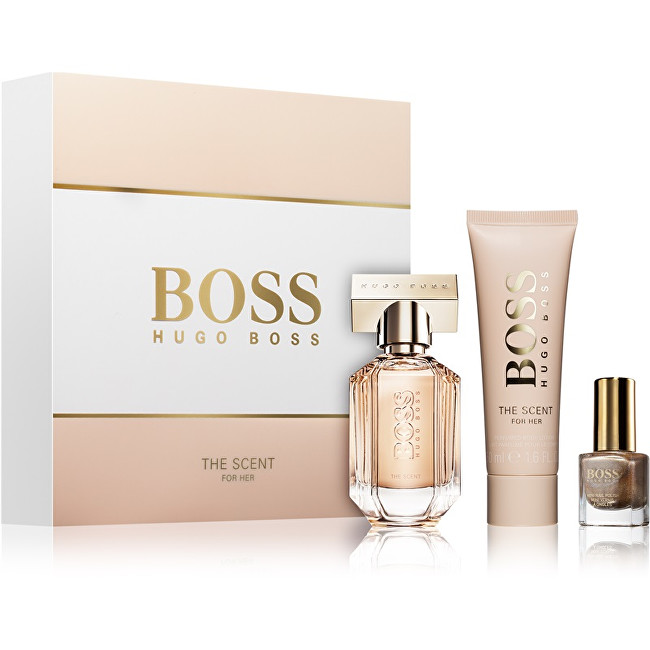 Hugo Boss Boss The Scent For Her - EDP 30 ml + tělové mléko 50 ml + lak na nehty 4,5 ml