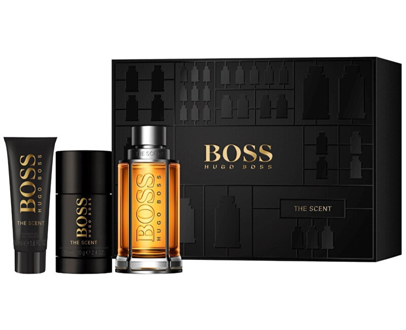 Hugo Boss Boss The Scent - EDT 100 ml   tuhý dezodorant 75 ml   sprchový gél 50 ml