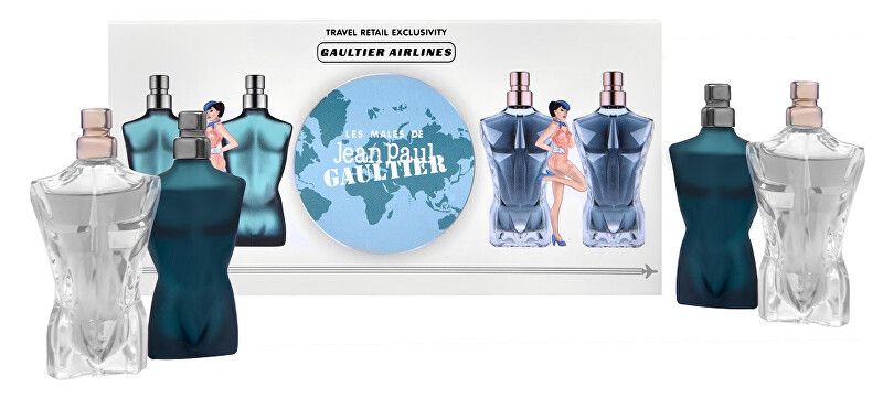 Jean P. Gaultier Kolekce miniatur Le Male - EDT 2 x 7 ml + EDP 2 x 7 ml
