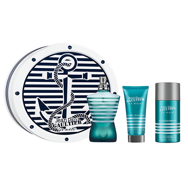 Jean P Gaultier Le Male  EDT 125 ml  sprchový gel 75 ml  deodorant ve spreji 150 ml