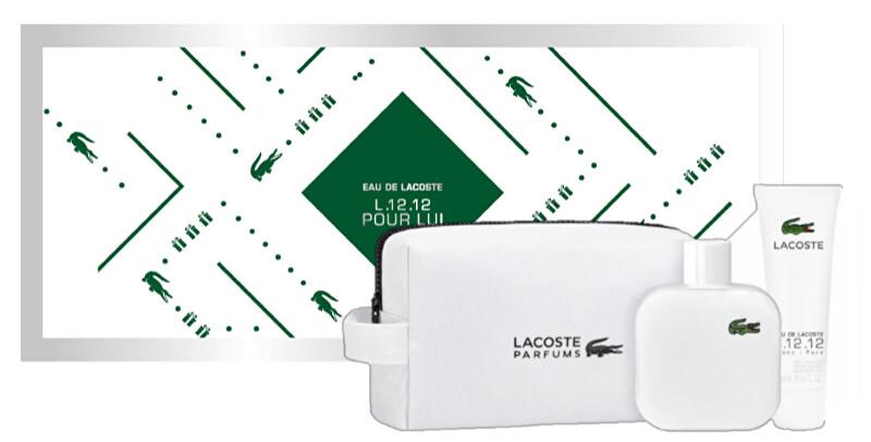 Lacoste Eau De Lacoste L.12.12 White - EDT 100 ml + sprchový gel 50 ml + kosmetická taštička