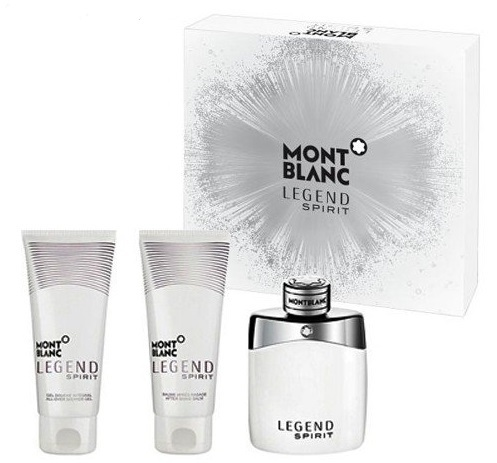 Mont Blanc Legend Spirit - EDT 100 ml + balzám po holení 100 ml + sprchový gel 100 ml