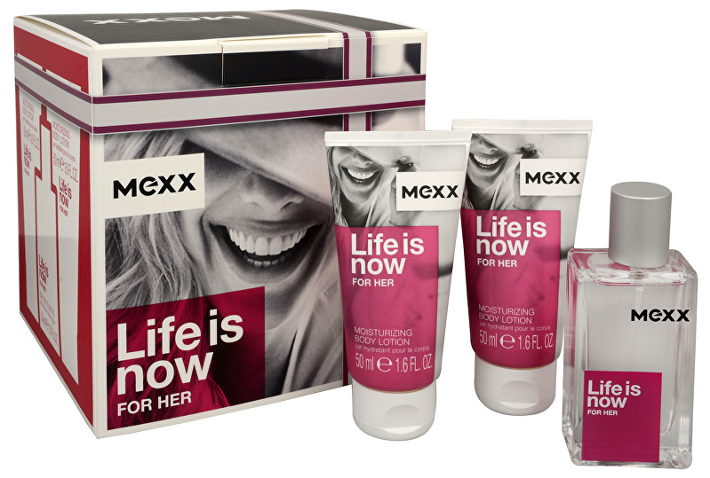 Mexx Life Is Now For Her - EDT 30 ml   telové mlieko 2 x 50 ml
