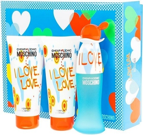 Moschino Cheap & Chic I Love Love - EDT 50 ml + telové mlieko 100 ml + sprchový gél 100 ml