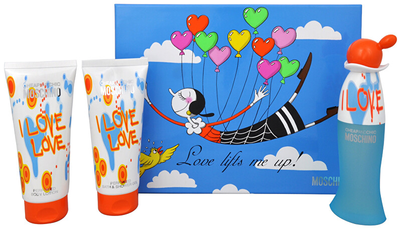 Moschino Cheap   Chic I Love Love - EDT 50 ml   sprchový gel 100 ml   tělové mléko 100 ml