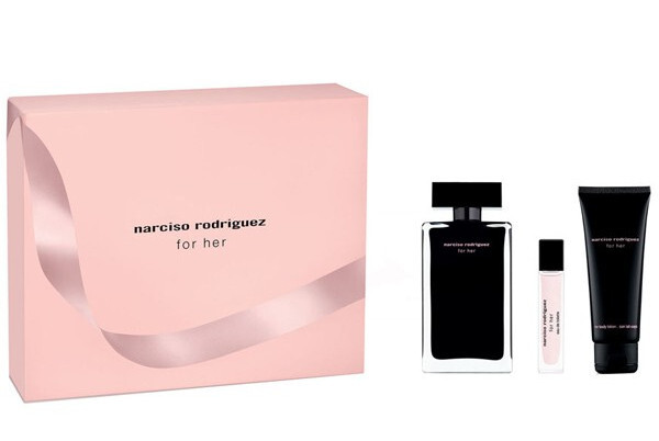 Narciso Rodriguez For Her - EDT 100 ml   telové mlieko 75 ml   EDT 10 ml