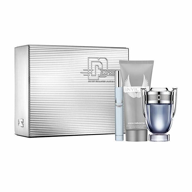 Paco Rabanne Invictus - EDT 50 ml + sprchový gel 100 ml + EDT 10 ml