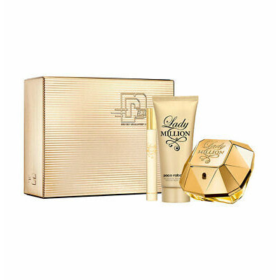 Paco Rabanne Lady Million  EDP 80 ml  tělové mléko 100 ml  EDP 10 ml