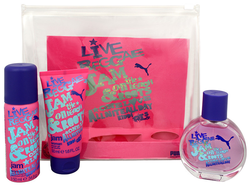 Puma Jam Woman - EDT 40 ml + dezodorant v spreji 50 ml + sprchový gél 50 ml