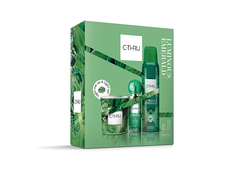 C-THRU Luminous Emerald - EDT 30 ml   deodorant ve spreji 150 ml   vonná svíčka