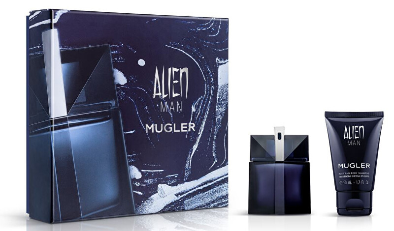 Thierry Mugler Alien Man - EDT 50 ml   tělový a vlasový šampon 50 ml
