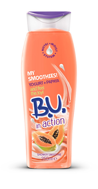 B.U. In Action Jogurt & Papája - sprchový krém 250 ml