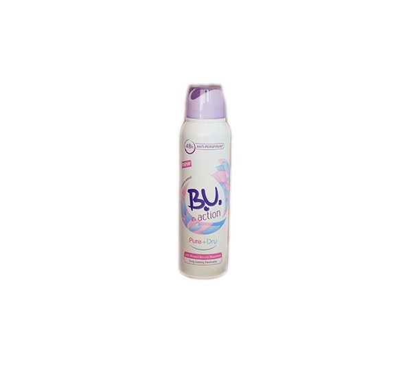 B.U. In Action Pure + Dry - deodorant ve spreji 150 ml