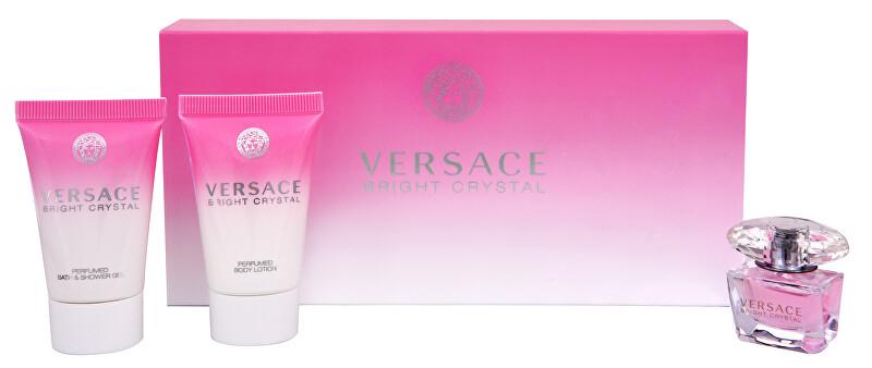 Versace Bright Crystal - miniatura EDT 5 ml + tělové mléko 25 ml + sprchový gel 25 ml