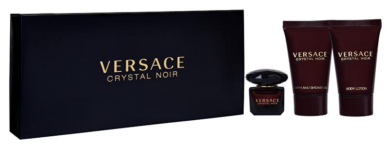 Versace Crystal Noir - EDT 5 ml + telové mlieko 25 ml + sprchový gél 25 ml