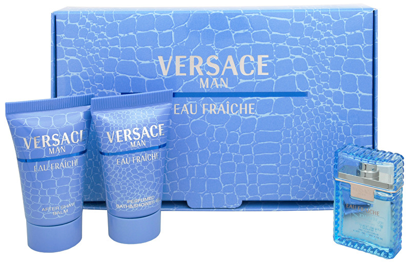 Versace Eau Fraiche Man - EDT 5 ml + sprchový gél 25 ml + balzam po holení 25 ml