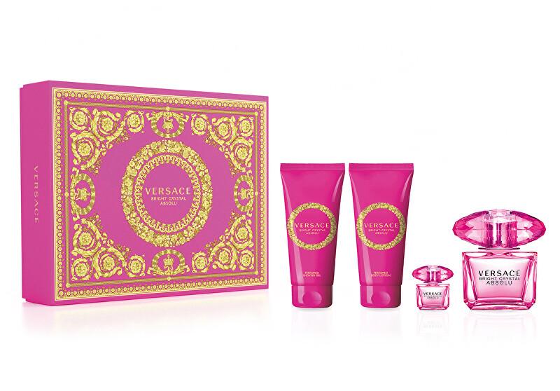 Versace Bright Crystal Absolu - EDP 90 ml + tělové mléko 100 ml + sprchový gel 100 ml + EDT 5 ml