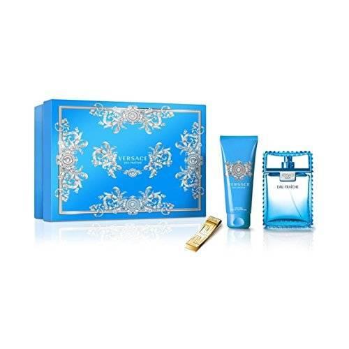 Versace Eau Fraiche Man - EDT 100 ml + sprchový gel 100 ml + klip na bankovky