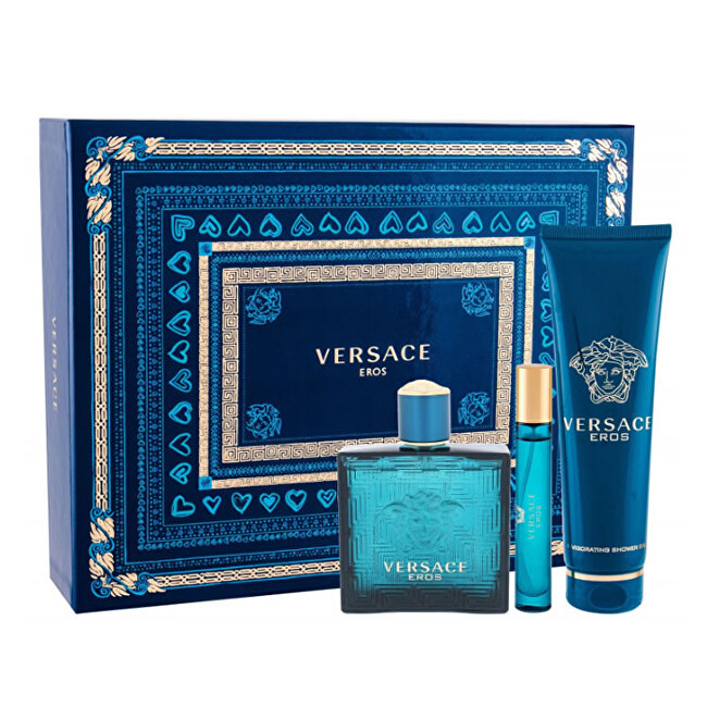Versace Eros - EDT 100 ml + sprchový gel 150 ml + EDT 10 ml