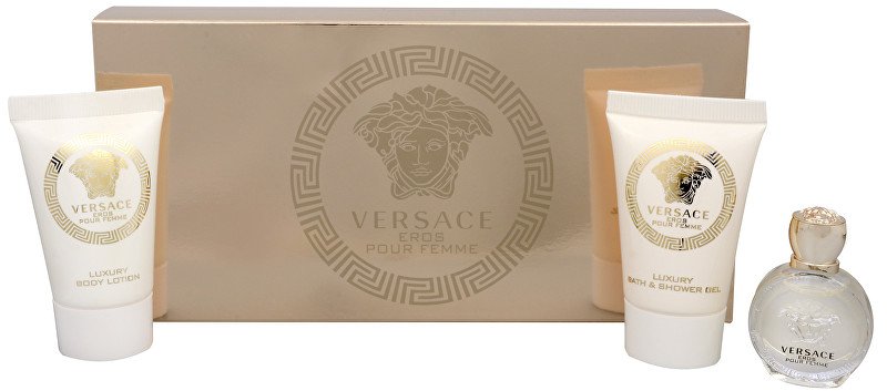 Versace Eros Pour Femme - EDP 5 ml + sprchový gel 25 ml + tělové mléko 25 ml