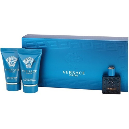 Versace Eros - EDT 5 ml + balzam po holení 25 ml + sprchový gél 25 ml