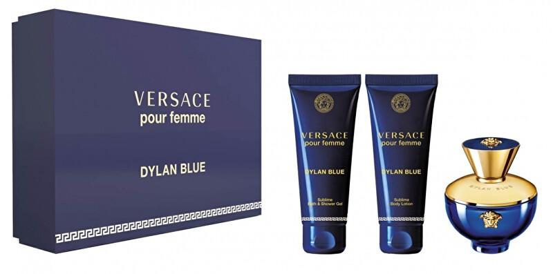 Versace Pour Femme Dylan Blue - EDP 50 ml + sprchový gel 50 ml + tělové mléko 50 ml
