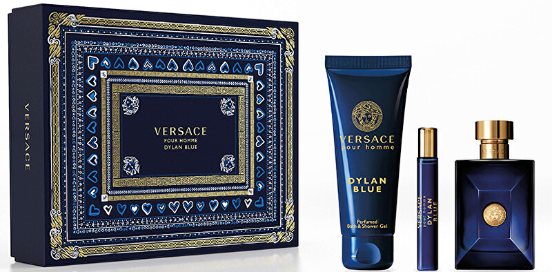 Versace Versace Pour Homme Dylan Blue  EDT 100 ml  sprchový gel 150 ml  EDT 10 ml