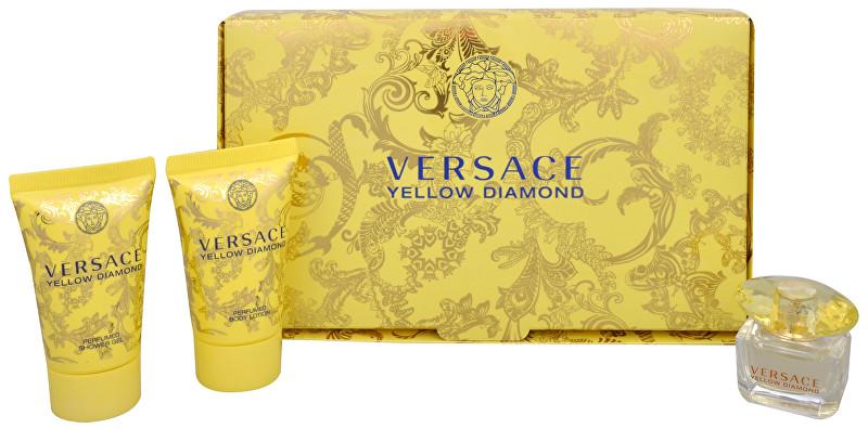 Versace Yellow diamonds EDT 5 ml + tělové mléko 25 ml + sprchový gel 25 ml dárková sada