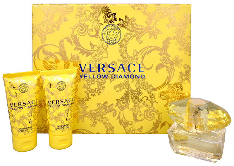 Versace Yellow Diamond - EDT 50 ml + tělové mléko 50 ml + sprchový gel 50 ml