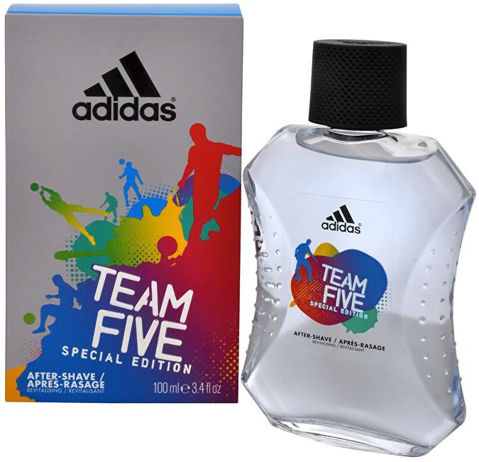 Adidas Team Five - voda po holení - SLEVA - pomačkaná krabička 100 ml