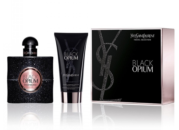 Yves Saint Laurent Black Opium - EDP 50 ml + tělová emulze se třpytkami 50 ml