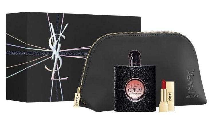 Yves Saint Laurent Black Opium - EDP 90 ml + rtěnka 1,3 ml + kosmetická taštička
