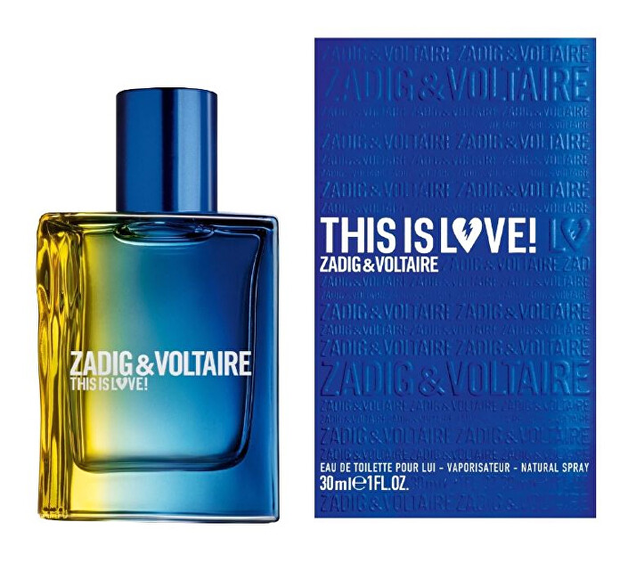 Zadig  Voltaire This is Love for him  EDT 30 ml