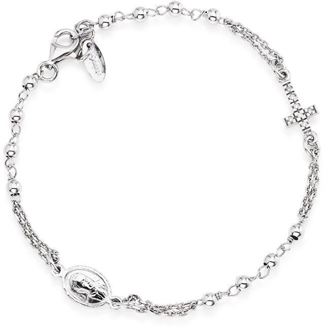 Amen Originální stříbrný náramek se zirkony Rosary BROBZ3