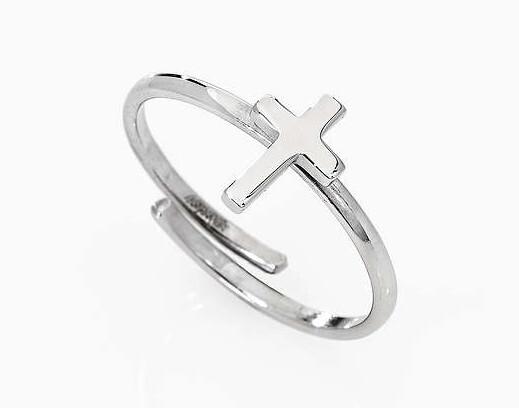 Amen Strieborný prsteň s krížikom Croce AFCB