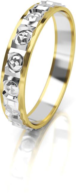 Art Diamond Dámský bicolor snubní prsten ze zlata AUG303 50 mm